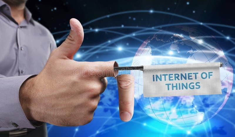 企业、技术、互联网和网络概念 年轻entrep 库存照片