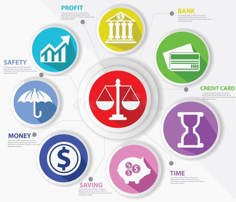企业、法律和财务概念,抽象 向量例证