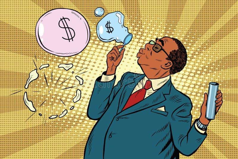 企业上司和财政泡影 库存例证