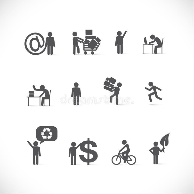 企业不同的人情形 库存例证