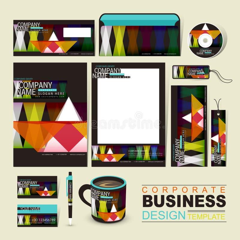 企业与几何纸小船的公司本体模板 库存例证