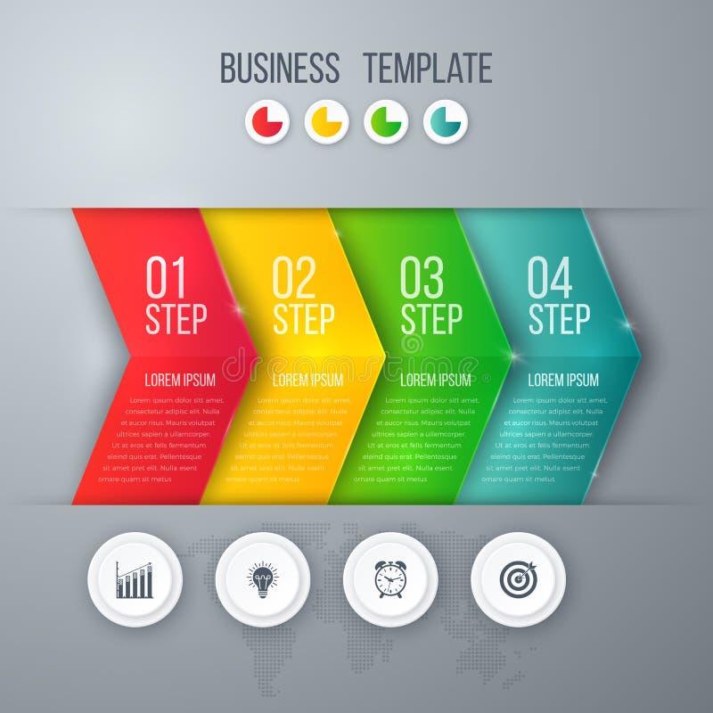 企业与箭头的项目模板 向量例证
