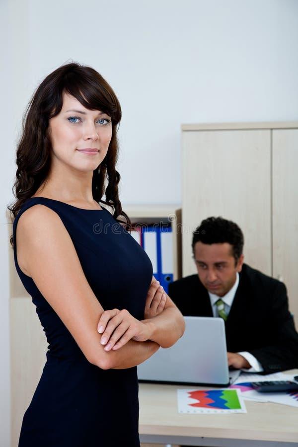 女实业家在办公室 免版税库存图片