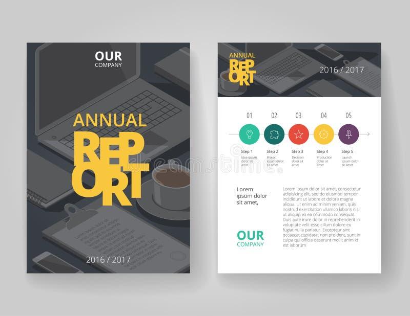 企业与infographics的小册子模板 库存例证