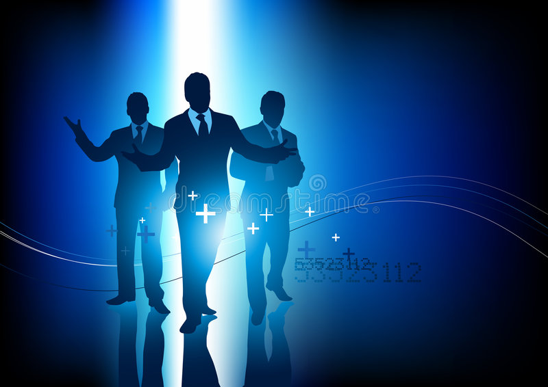 企业专业人员小组 库存例证