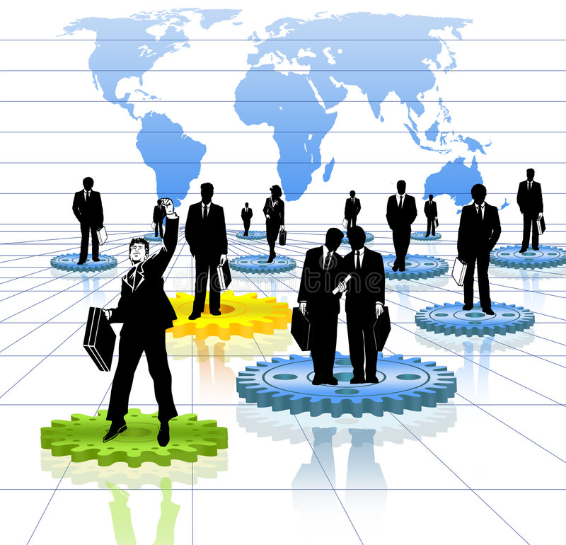 企业世界 向量例证