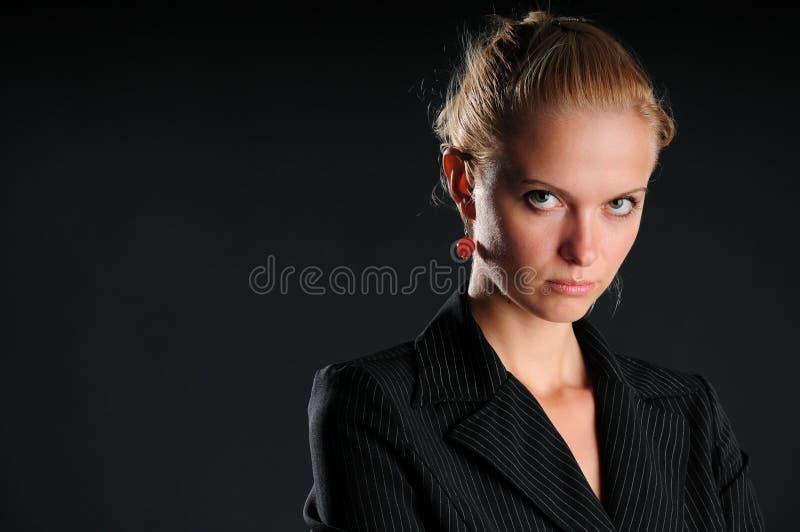 企业严重的妇女 图库摄影