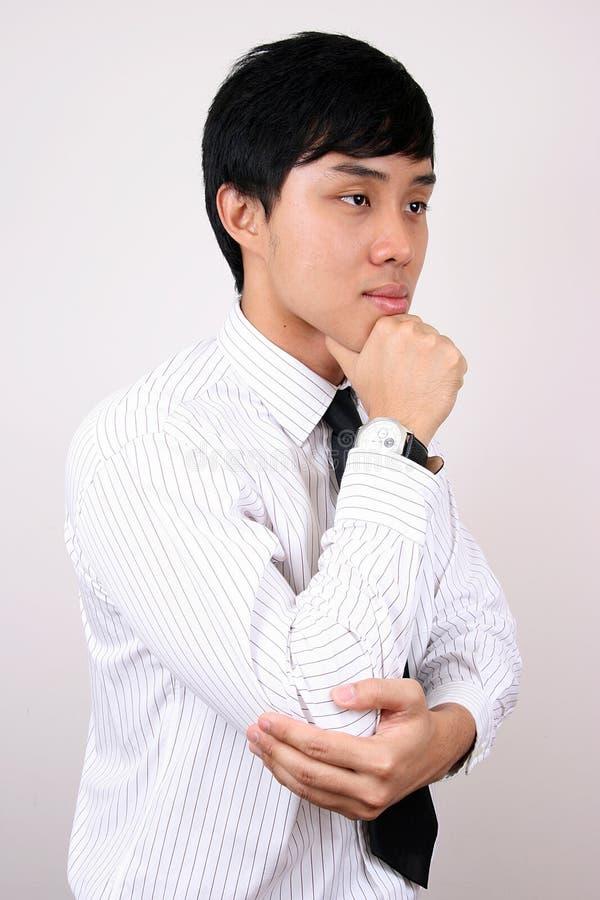 企业中国人认为的年轻人 免版税库存照片