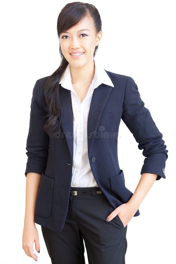 企业中国确信的妇女年轻人 图库摄影