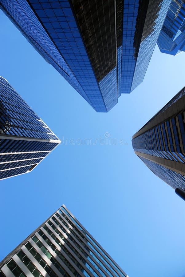 企业中央地区天空 免版税库存图片