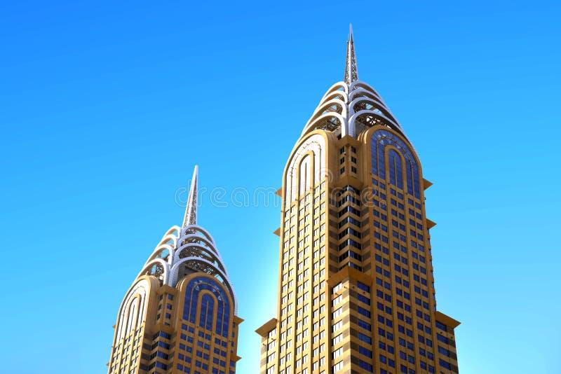 企业中央塔 库存照片