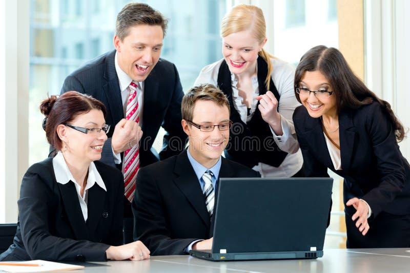 企业买卖人有会议小组 免版税库存图片