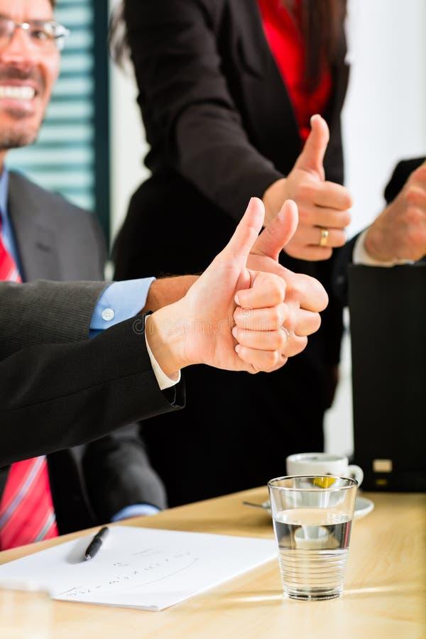 企业买卖人有会议小组 库存图片