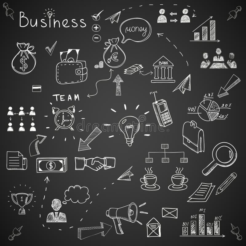 企业乱画 向量例证