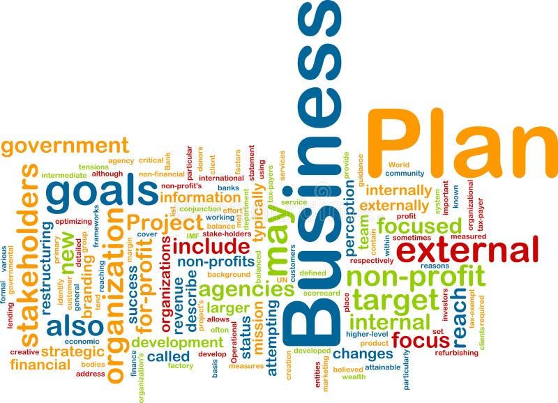 企业云彩计划字 向量例证