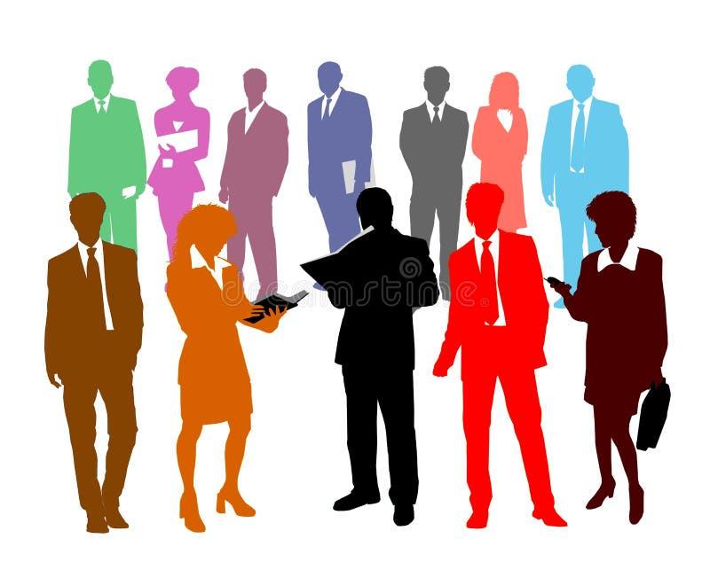 企业五颜六色的人员 库存例证