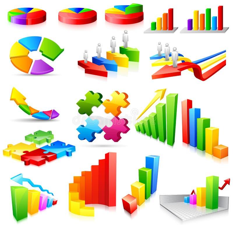 企业五颜六色的图形 向量例证