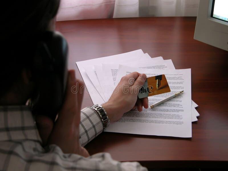 企业交谈 免版税图库摄影