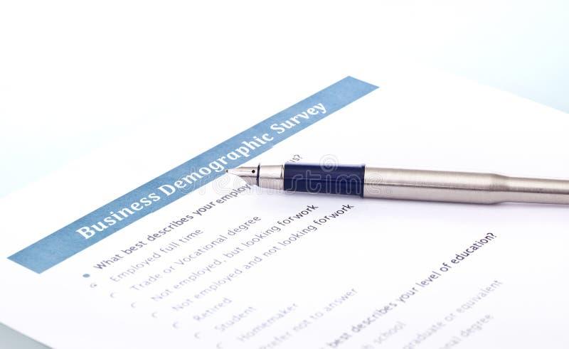 企业人口统计的调查 免版税库存图片