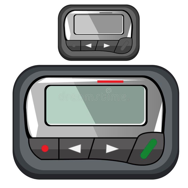 企业人的方便紧凑传呼器 库存例证