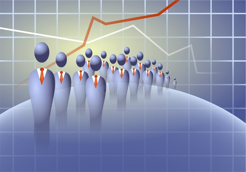 企业人群 向量例证