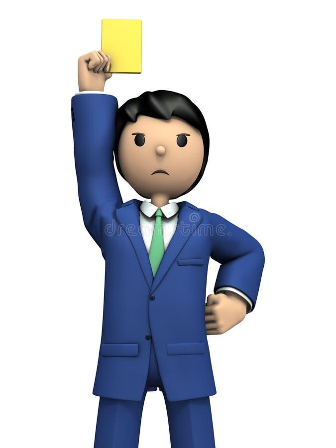 企业人警告与黄牌 库存例证