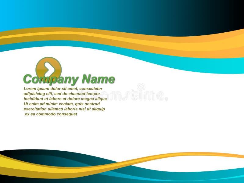 企业介绍模板 库存例证