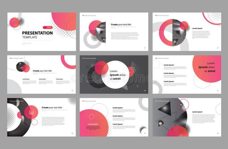 企业介绍页面设计模板设计和用途小册子、书、杂志、年终报告和公司概况的 库存例证
