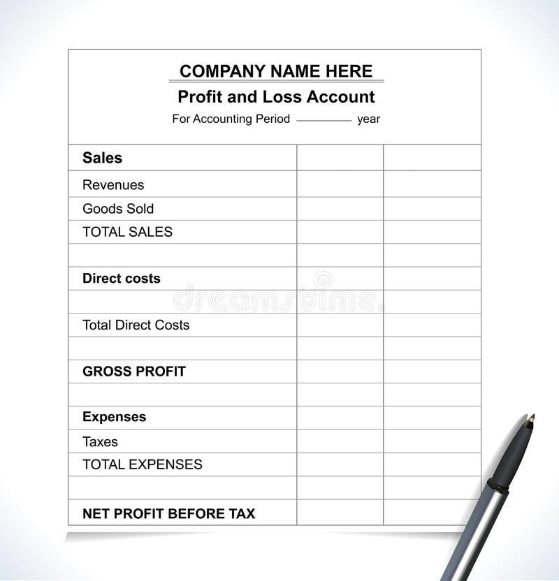 企业企业经营情况的分析报告,会计板料 向量例证