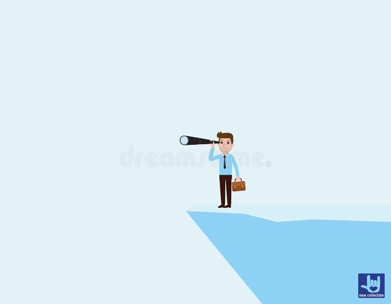 企业传染媒介平的动画片设计 r 库存例证