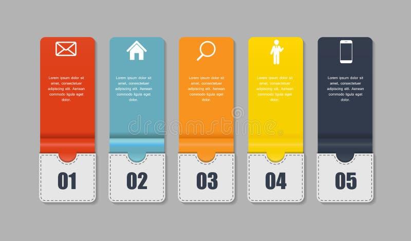 企业传染媒介例证的Infographic模板。 皇族释放例证