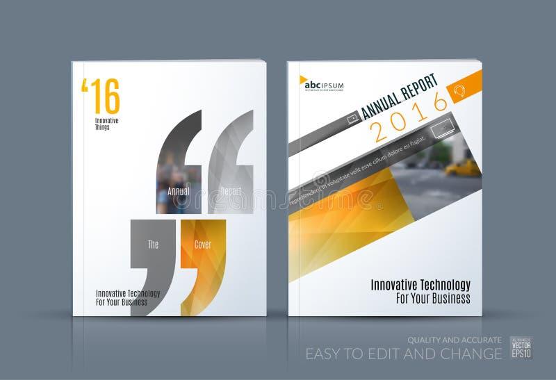 企业传染媒介 小册子模板布局,包括现代设计a 库存例证