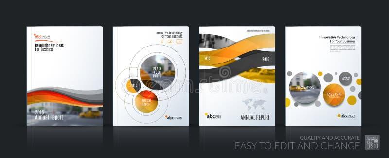 企业传染媒介 小册子模板布局,包括软的设计安 向量例证