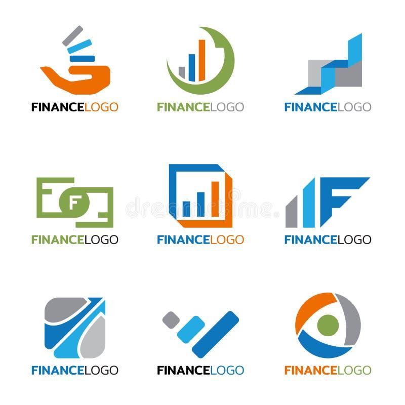 企业传染媒介布景的财务商标 向量例证