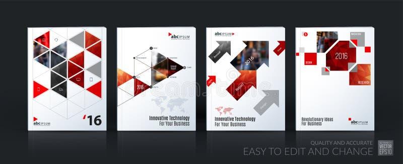 企业传染媒介模板兆集合 小册子布局,包括现代 向量例证