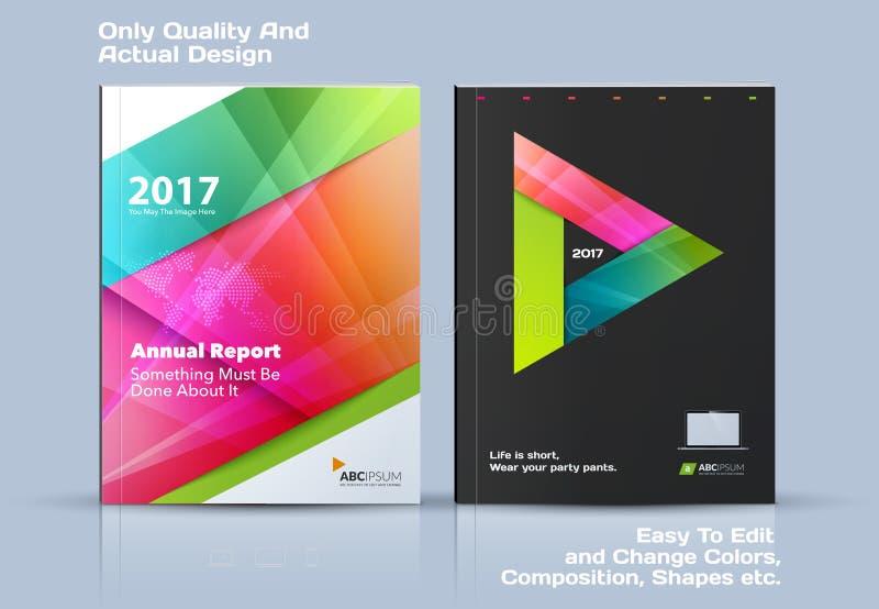 企业传染媒介模板,小册子设计,抽象年终报告,包括现代布局 向量例证