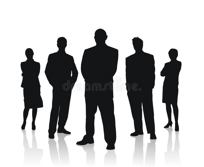 企业例证人合作向量