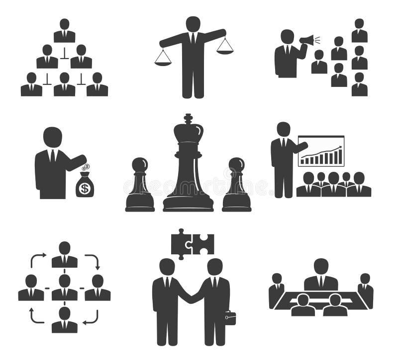 企业例证JPG人向量 在白色背景设置的业务会议 皇族释放例证
