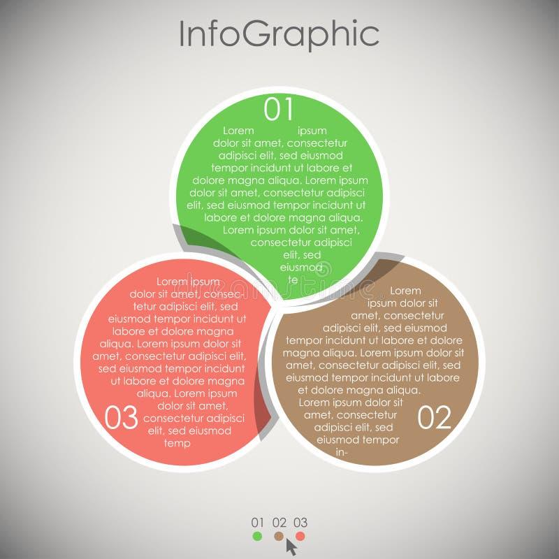 企业信息图表模板 库存例证