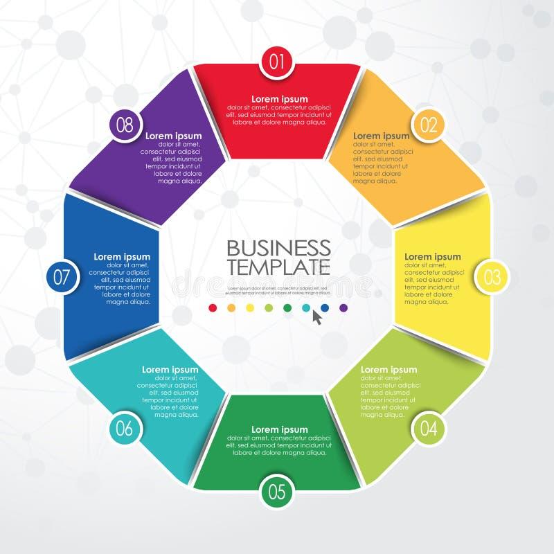 企业信息图表模板 皇族释放例证
