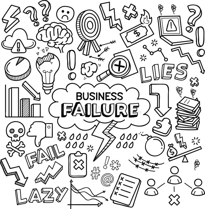 企业倒闭概念/隐喻 库存例证