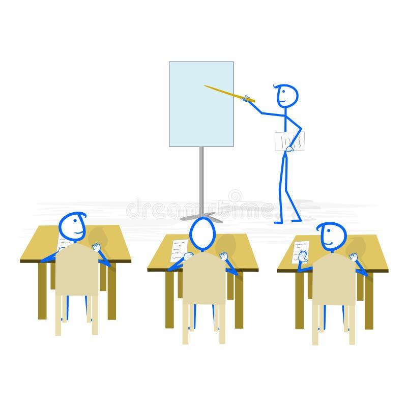 企业做介绍的研讨会报告人 库存例证
