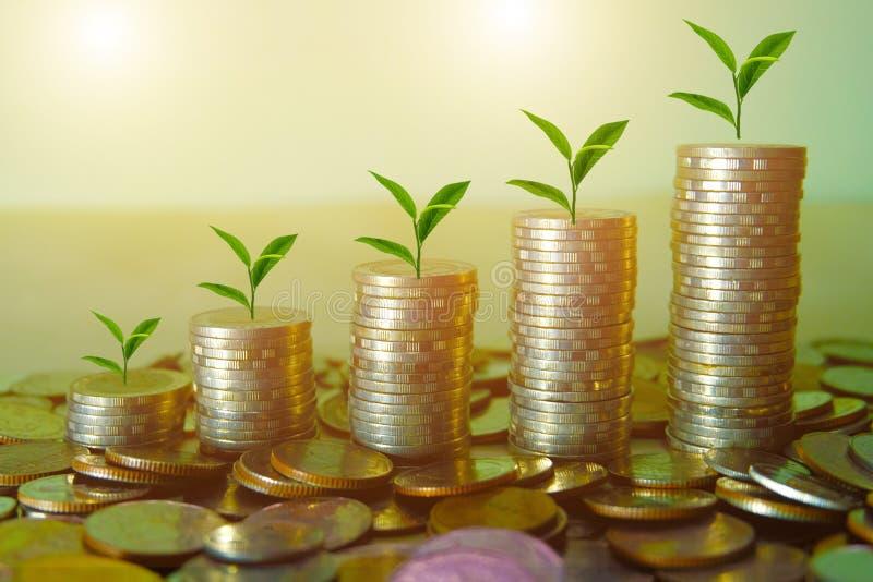企业储款的经济概念 图库摄影