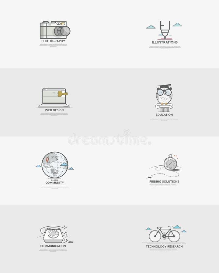 企业元素:概念商标 库存例证