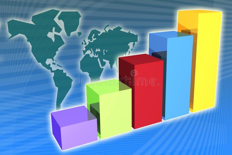 企业全球增长 库存例证