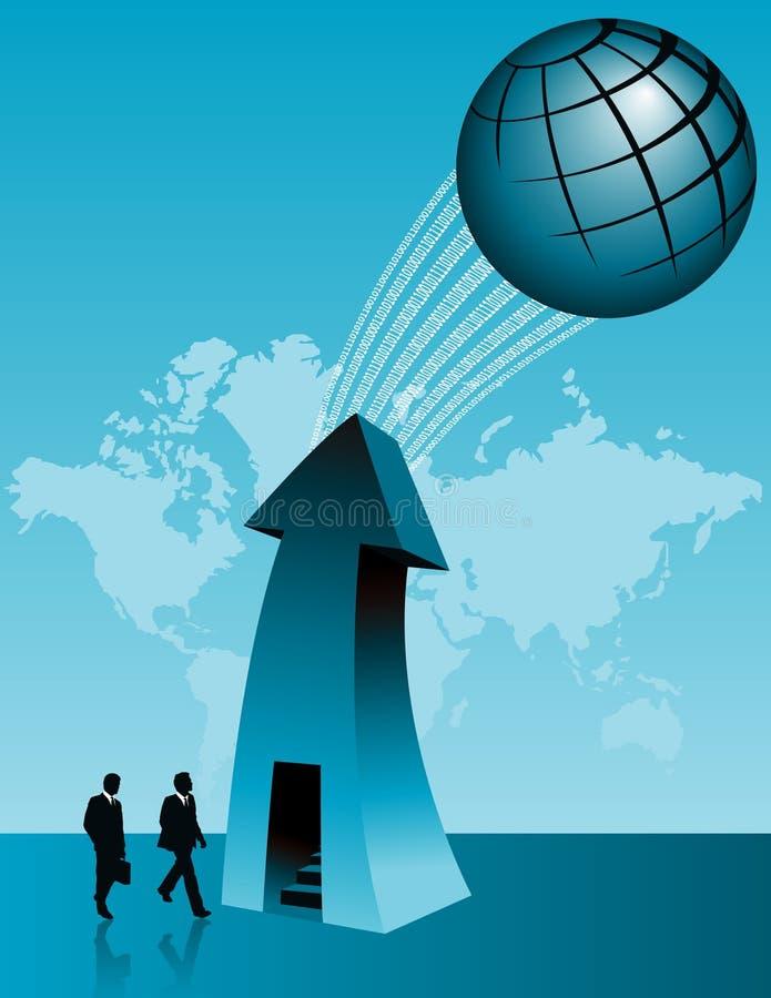 企业全球成功 库存例证