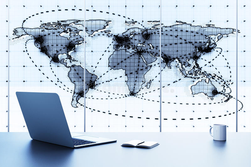 企业全球映射 免版税库存照片