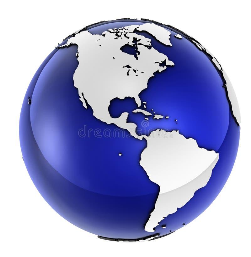 企业全球系列 皇族释放例证
