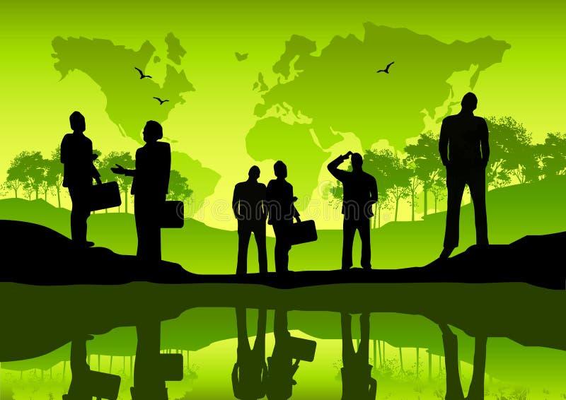 企业全球绿色 向量例证