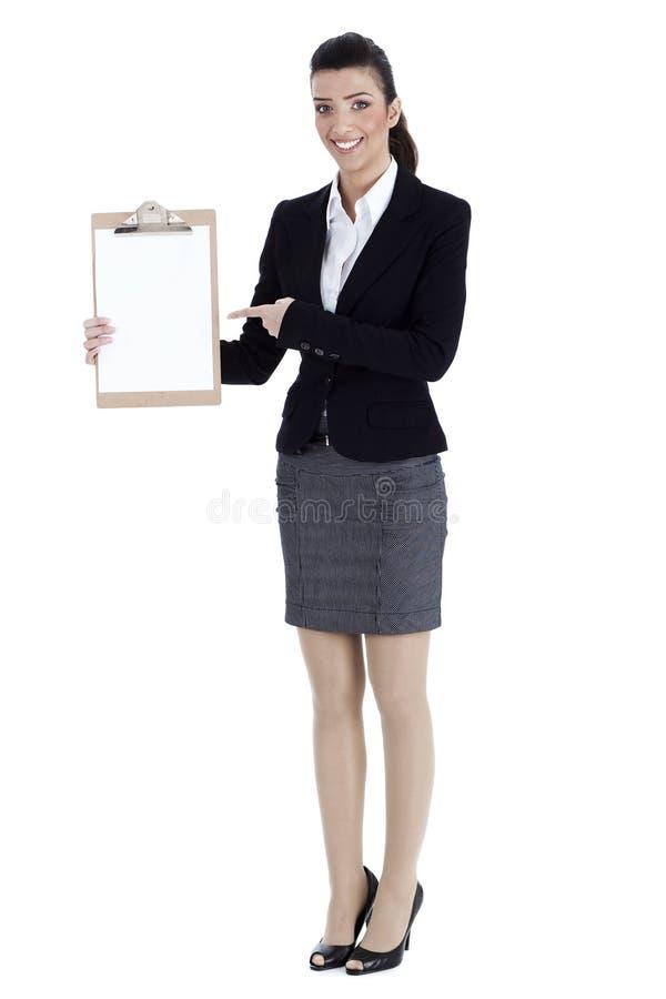 企业全长pointingb妇女 图库摄影